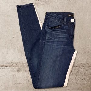 3x1 W2 Channel Seam Skinny Jeans Color Block 26